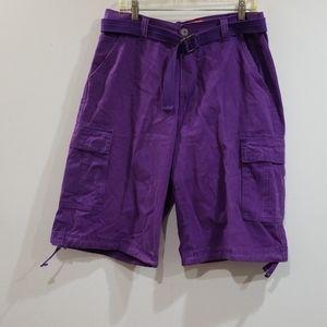 Royal blue basic cargos men's purple shorts